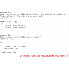 What is wrong with the following while loop if the intention