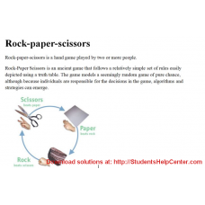 Rock-paper-scissors in C