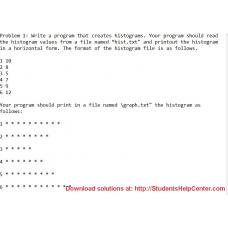 Write a program that creates histograms