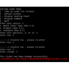 You are to implement a menu-driven theatre ticket booking application